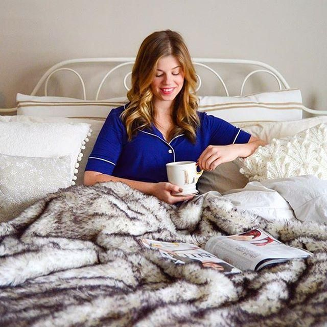 @louellareese knows what's up - matching PJs + coffee + bed.