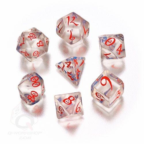 Translucent-blue-red Classic RPG dice