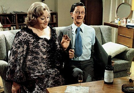 Ooh, Matron! Hattie Jacques with co-star Charles Hawtrey in 1968 film Carry On Doctor