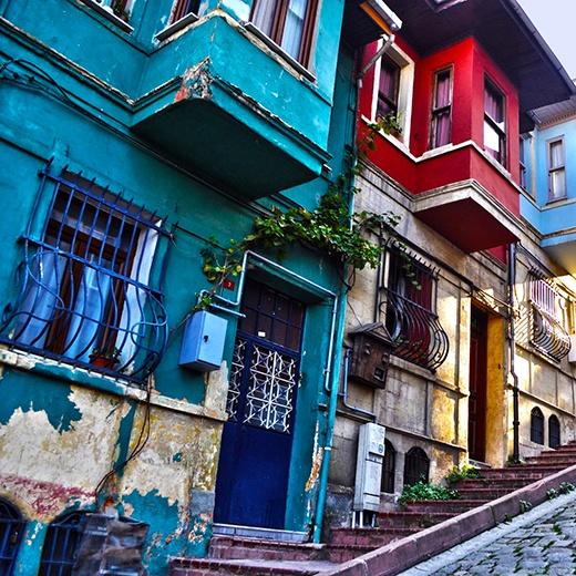 Take in the colorful surroundings in Balat, #Istanbul.