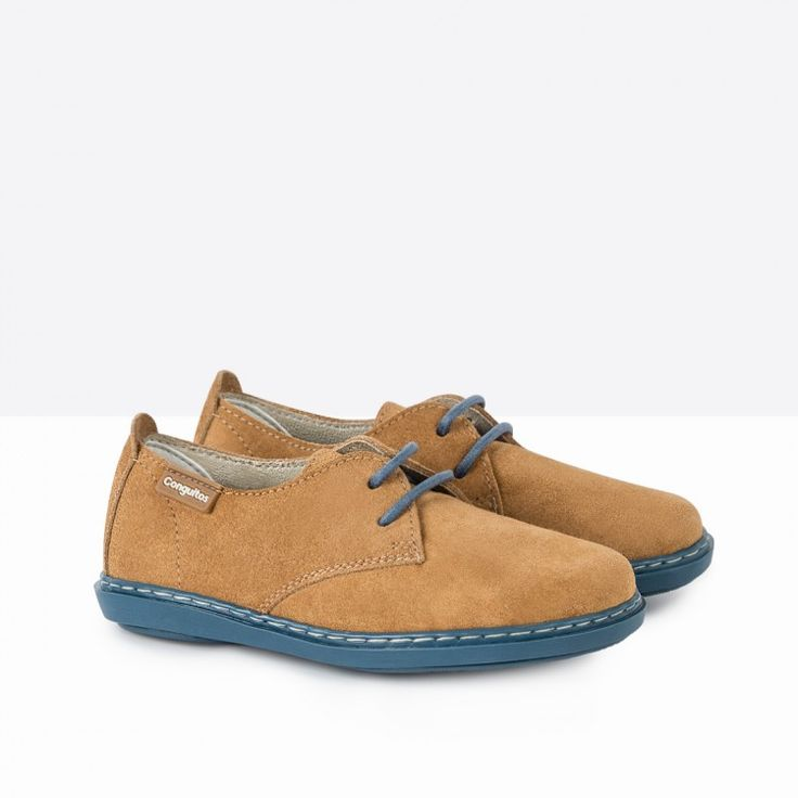 Zapatos de Niño Serraje Contraste Arena - Calzado - Niño - Conguitos #conguitos #niño #shoes #collection #ss18 #zapatos #serraje #arena