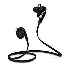 KSCAT Bluetooth4.1 イヤホン 高音質 ステレオ ハンズフリー通話 カナル型 ヘッドホン CVC6.0ノイズキャンセリング搭載 スポーツ仕様 防水 ワイヤレス ヘッドセット 2台と接続可能 iPhone、Android スマホに対応 (ブラック) おすすめ度*1 ASIN B01HYTZ4KK 耳にしっかり差し込まれるので、装着感はしっかりしている。遮音性はやや低めで環境音は良く聞こえる。反面音漏れはそれほどでもない。 通信性能的には遅延はほとんどなく、動画鑑賞にも問題なく使える。aptXには対応しない。 【1】外観・インターフェース・付属品 付属品はイヤーピースの替え、充電用…