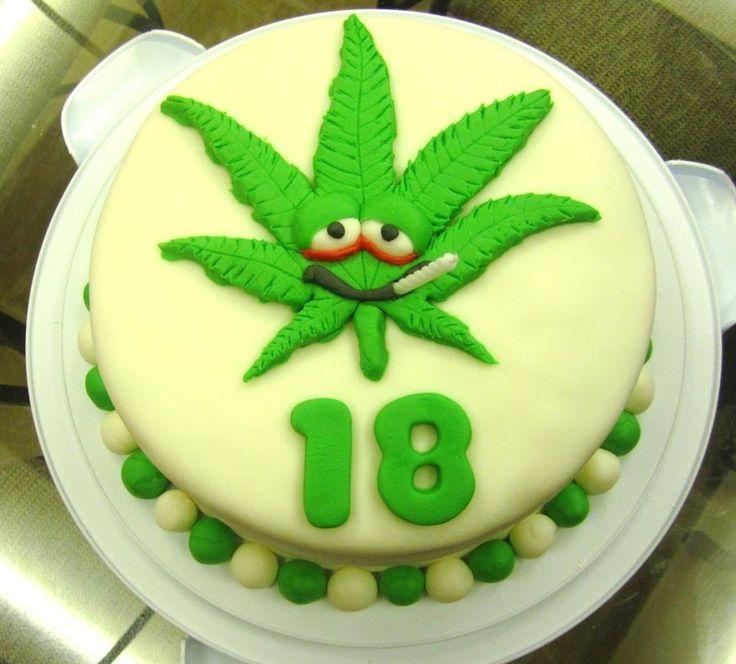 Marijuana Leaf Cake Decorations