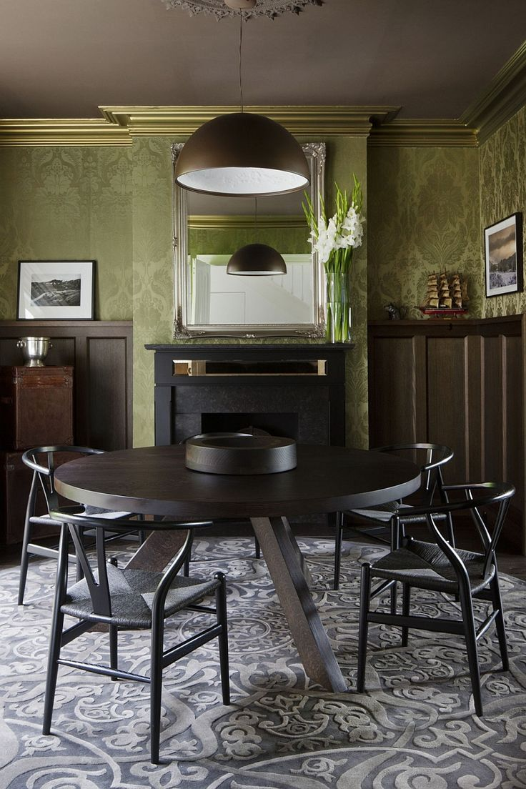 Large Pendant Light Above The Small Dining Area With Circular Table Best Addition In Melbourne Residence
