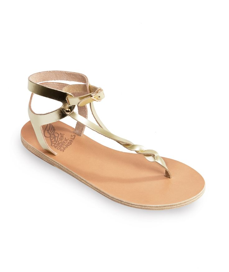 ANCIENT GREEK SANDALS Platinum Ismene Sandals < GIFTS | aesthet.com