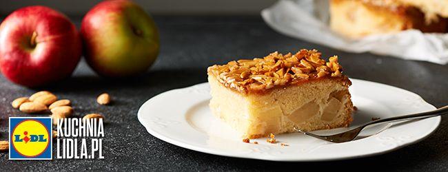 Maślane ciasto z jabłkami i migdałami. Kuchnia Lidla - Lidl Polska. #pawelmalecki #ciasto #jablka