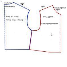 Pola Dasar Atasan ~ Cara Menjahit Pakaian