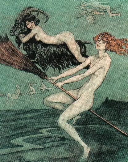 "Hedge Riders:  ""Riding #Witches,"" by Otto Goetze."
