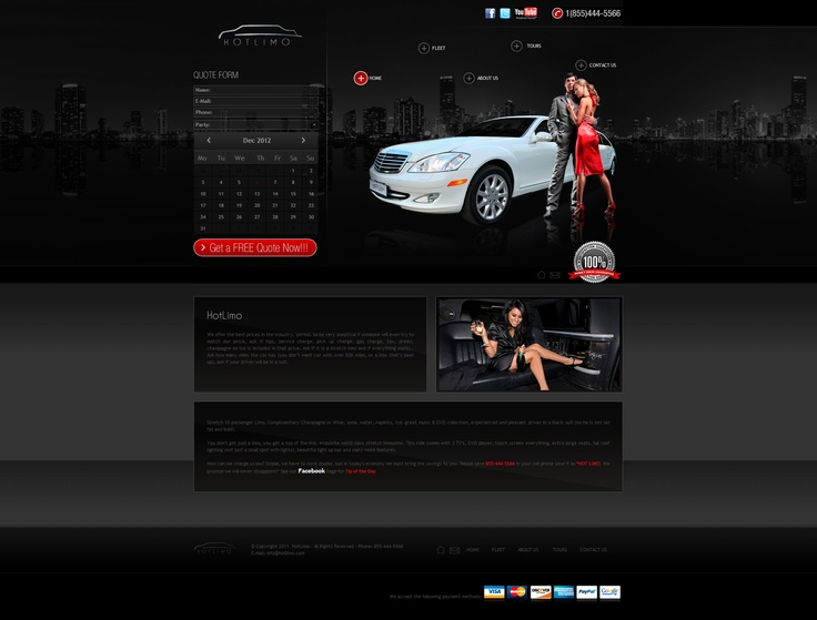 Hot Limo - Corporate Web Design