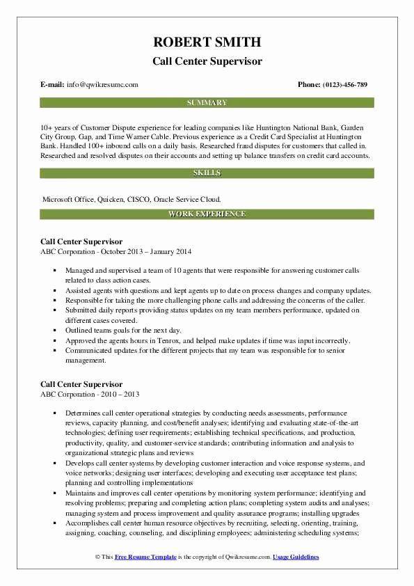 Call Center Resume Description Luxury Call Center Supervisor Resume Samples Manager Resume Job Resume Samples Cover Letter For Resume