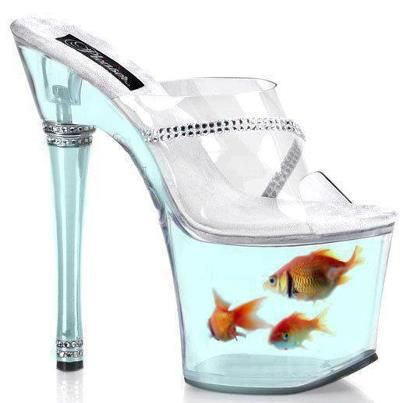 Fish bowl heels fish bowls pinterest fish bowls and for Shoes with fish in them