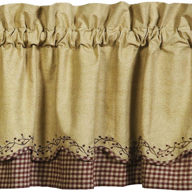 Primitive Shower Curtains And Valances