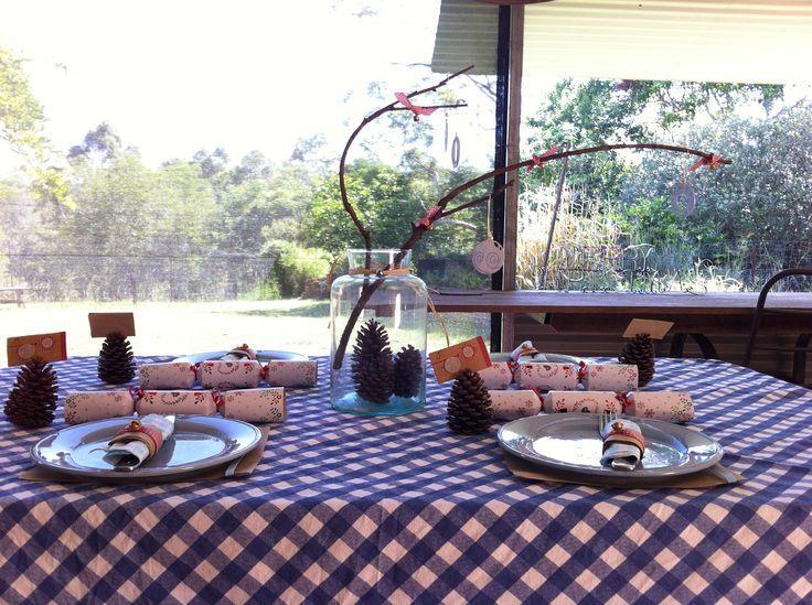 #christmas table #table #blue #countrychristmas