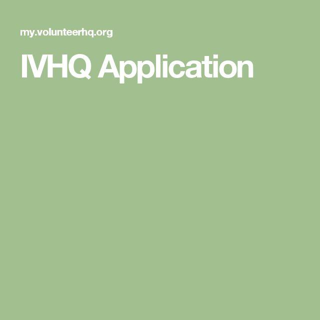 IVHQ Application