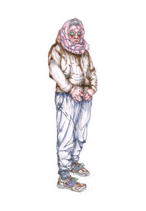 Djamila al-Sayed - Djammy: genau, aus Syrien, da kommt die Djamila her, das Quotenausländerkind und sie ist die einzig wirklich freundliche in diesem verzogenen Haufen, sie ist noch nicht allzu lange im postsozialistischem AfD Land Sachsen und gewöhnt sich nur langsam ein in die Klasse und ins Leben in der neuen Heimat.  Bild und Text © Nadja Schüller - Ost, 2016 #nadjaschuellerost#djamila#candice_end_frendz#graphic_novel#scetch#illustration