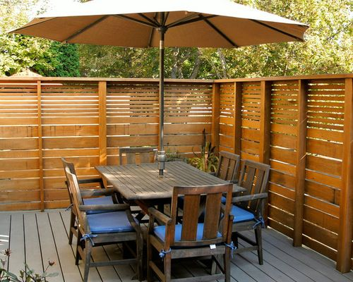 Best Deck Images On Pinterest Privacy Fences Backyard
