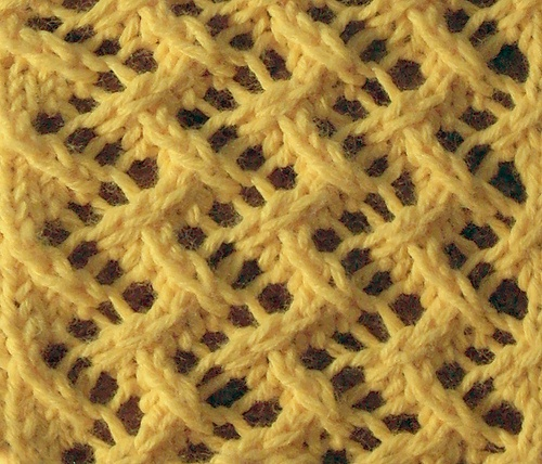 """Pattern: Vandyke Lace Stitch ~~ Count Repeat: Multiple of 4 stitches ~~ Book: Charted Knitting Designs – A Third Treasury of Knitting Patterns, Page: 157 ~~ Posted in """"Charted Designs..."""", 06: Lace, Patterns that are Not Reversible."""