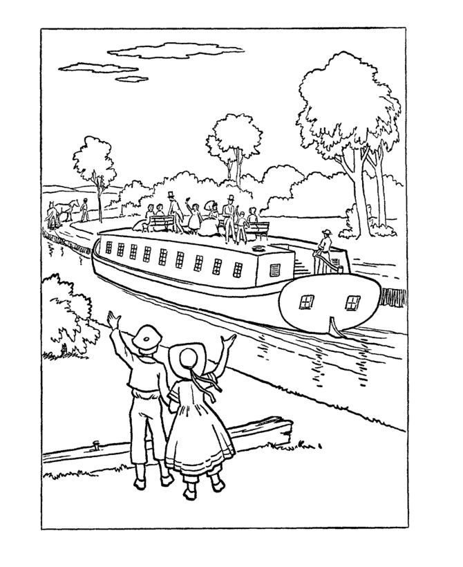 early settlers coloring pages - photo#27
