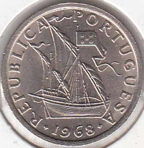 2$50 Escudos de 1968, 2$50, Moedas Portuguesas, 2ª REPUBLICA, Compra e venda de moedas nacionais e estrangeiras., Numisandré