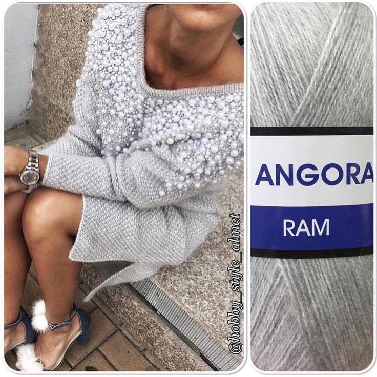 """Пряжа """"Angora Ram"""" идеальна для воздушных и лёгких изделий, несмотря на это, ниточках очень тёплая! Пряжа не скатывается и не колется,…"""