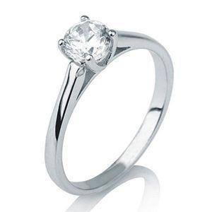 Diamantring Solitär 585er Gold - 0.10 Karat weißer Diamant G/SI1 - Pearlgem in Dortmund, Nordrhein-Westfalen