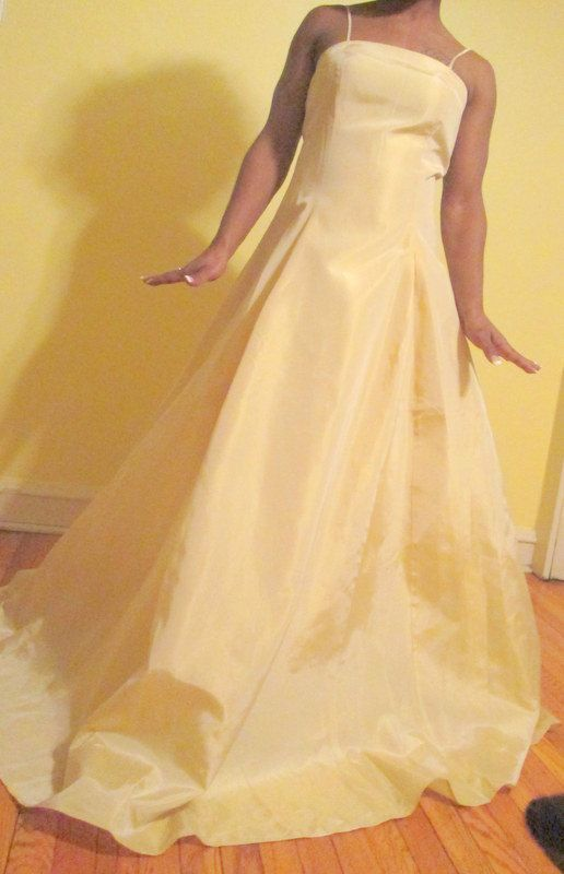 Formal Dress.  Butter Cream Party Dress. Brides by MISSVINTAGE5000