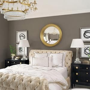 Veranda   Bedrooms   Tufted, Ivory, Sleigh, Bed, Charcoal, Gray, Good Ideas