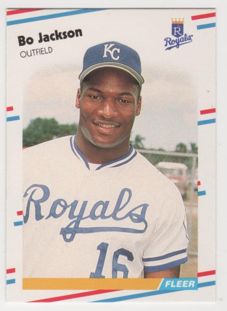 1988 fleer baseball bo jackson 260 kc royals from 099