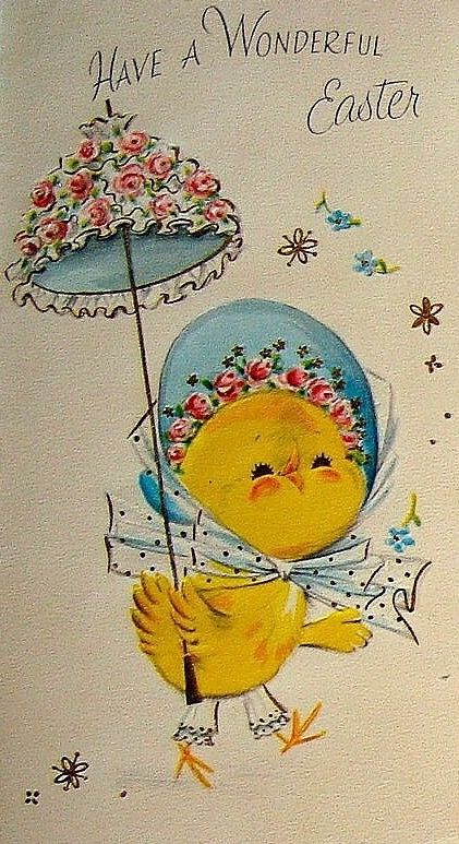 71 best Chicks, Birds \ Roosters Vintage Easter cards images on - easter greeting card template
