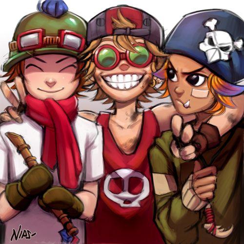 Human Teemo, Ziggs, and Gnar Teens (League of Legend Yordles)