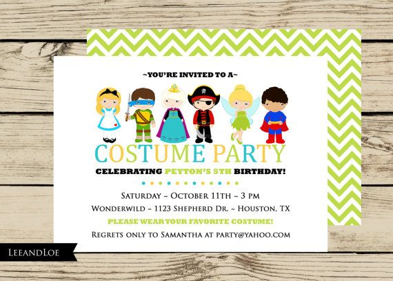 8 best birthday party ideas age 3 images on pinterest costume costume birthday party invitation princess ninja pirate fairy chevron dress filmwisefo