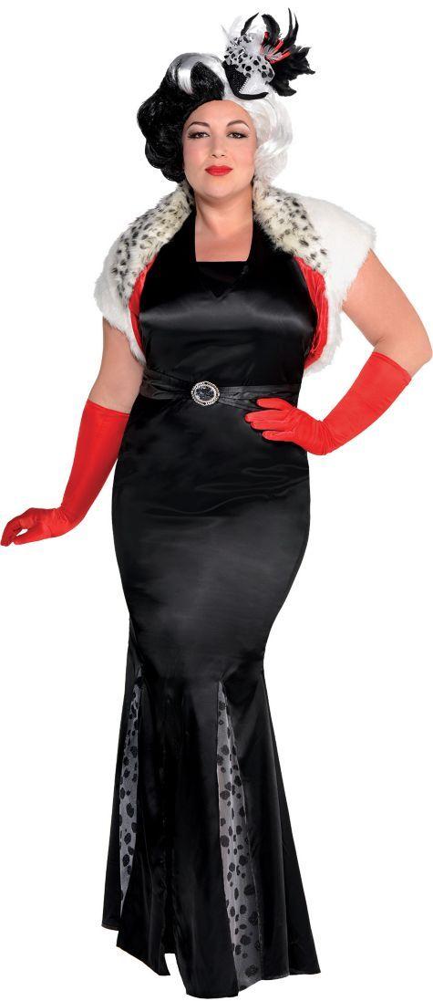 adult cruella de vil costume couture plus size 101 dalmatians party city halloween. Black Bedroom Furniture Sets. Home Design Ideas
