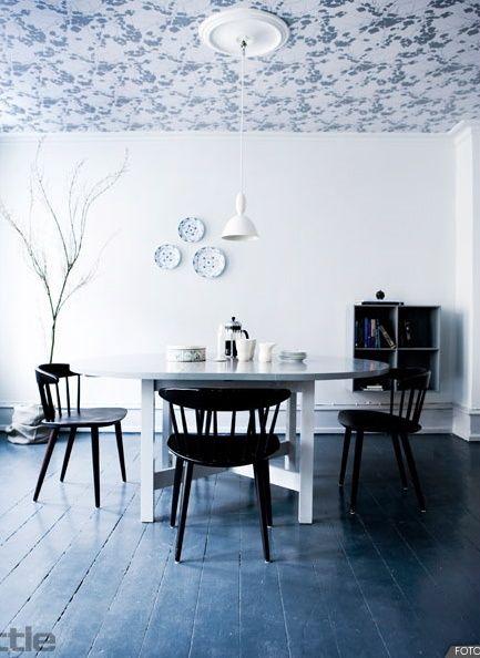 Pin de erika albarr n en casa pinterest el espacio for B q dining room wallpaper