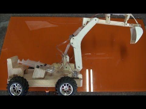 Escavadora hidráulica de juguete 1.2 partes - YouTube
