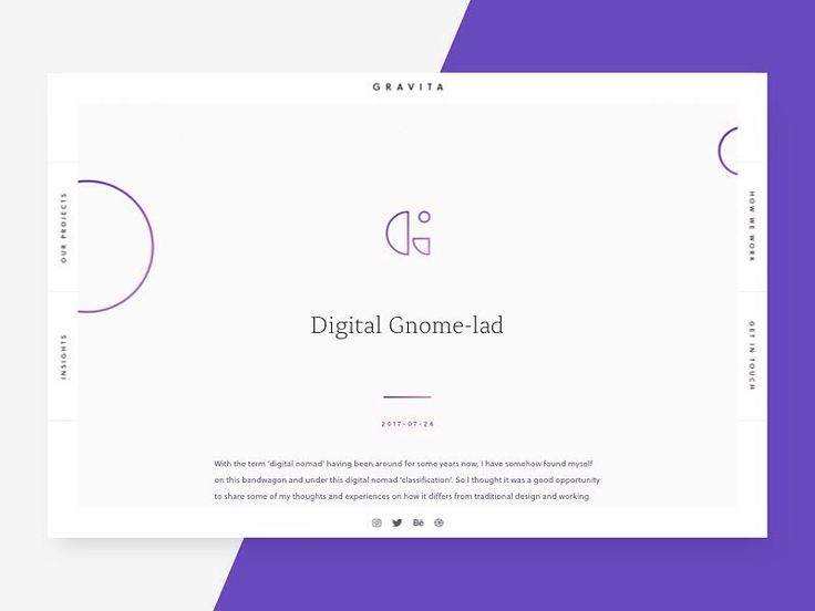 A look at the insights section of the Gravita website. @lewisdohrendesign took the opportunity to write few words on how he has ended up as a 'digital nomad' and how this differs from traditional working environments.  You can read the full article on @medium  #design #freelance #digitalnomad #remote #working #branding #ux #ui #website #websitedesign #article #blog #insight #identity #thoughts #dribbble #behance #medium #published #berlin #germany #liverpool #uk #travel #nomad #digital…