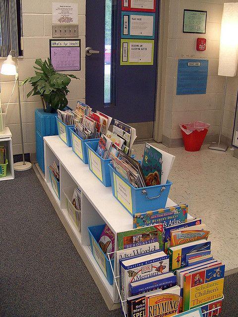 Presenteer de boeken met de voorkant naar voren, dan zien de kinderen beter waar ze uit kunnen kiezen!