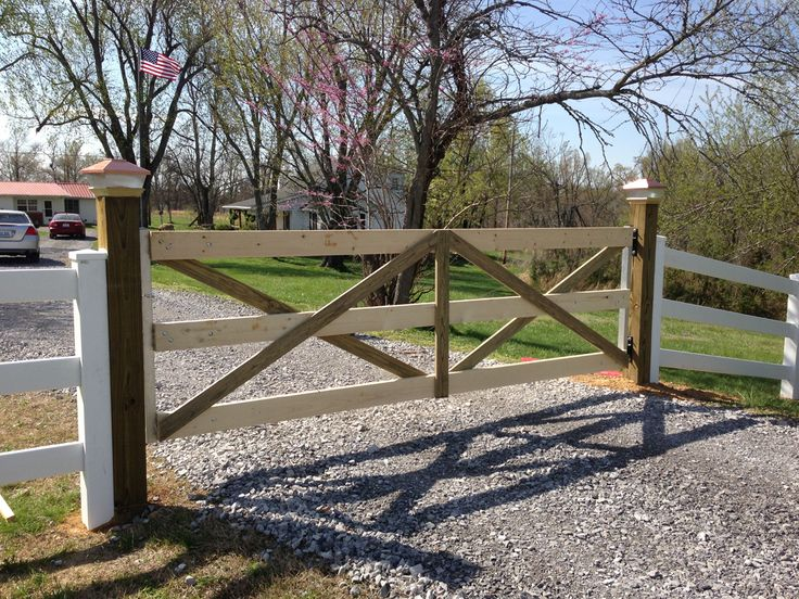 3 frame gate front yard pinterest gate farm gate for How to build a driveway gate