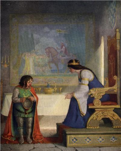 NC Wyeth, The lady Lyoness had the dwarf in examination