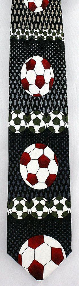 Soccer Balls Mens Necktie FIFA Ball World Cup Football Sports Neck Tie New #DavveroBenino #NeckTie