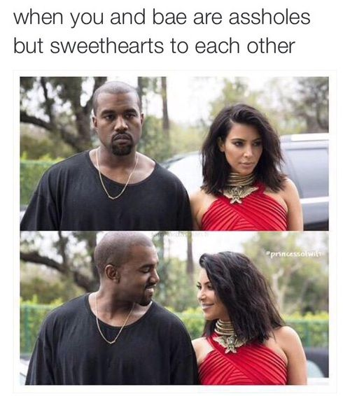kim kardashian, funny, and kanye west image