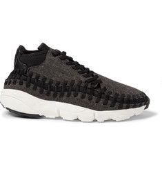 nike air footscape tweed leather and woven mesh sneakers