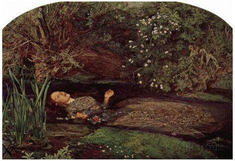 John Everett Millais - Ophelia Art Print Poster Posters at AllPosters.com