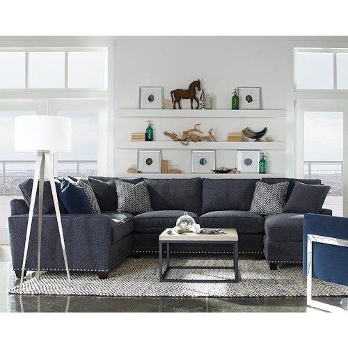 Rowe My Style I u0026 II Transitional Sectional Sofa with Track Arms  sc 1 st  Pinterest : transitional sectional sofa - Sectionals, Sofas & Couches