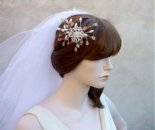 Svatební ozdoba do vlasů Aneta