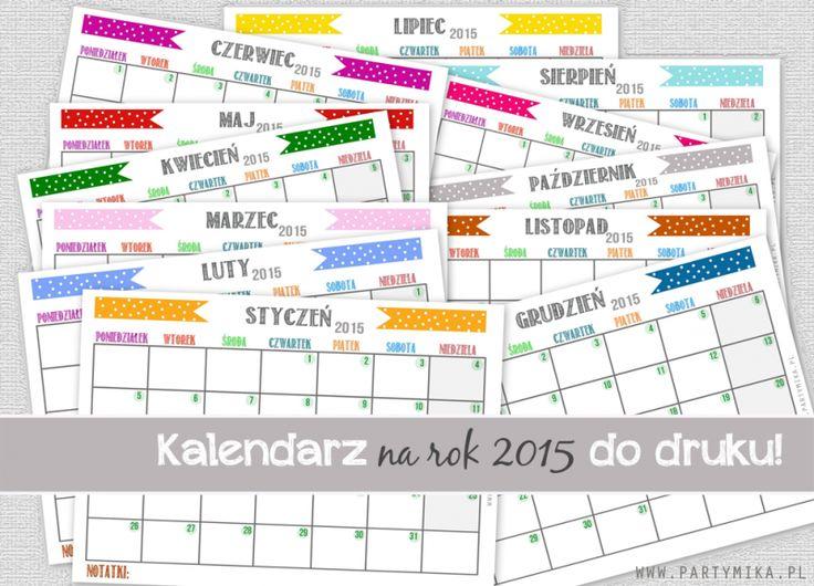Darmowe kalendarze na rok 2015 – do pobrania i wydrukowania.   Madziof .pl