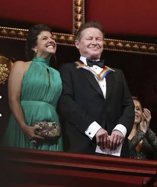 Cindy Frey and Don Henley at Kennedy center honors for the Eagles. Cindy accepted the award for her husband Glenn. December 4, 2016 Washington DC