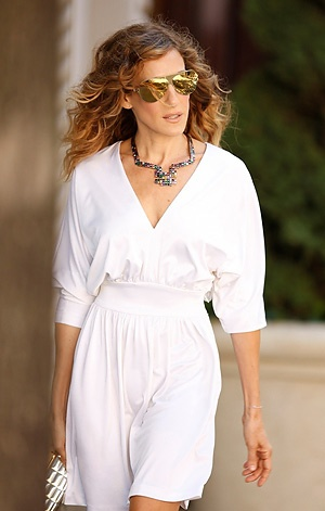 Simple white dress and That Fantastic Necklace,Casual with details