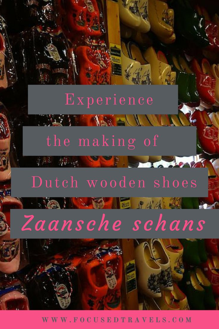 Dutch Wooden Shoe making at the Zaanse Schans village near Amsterdam.