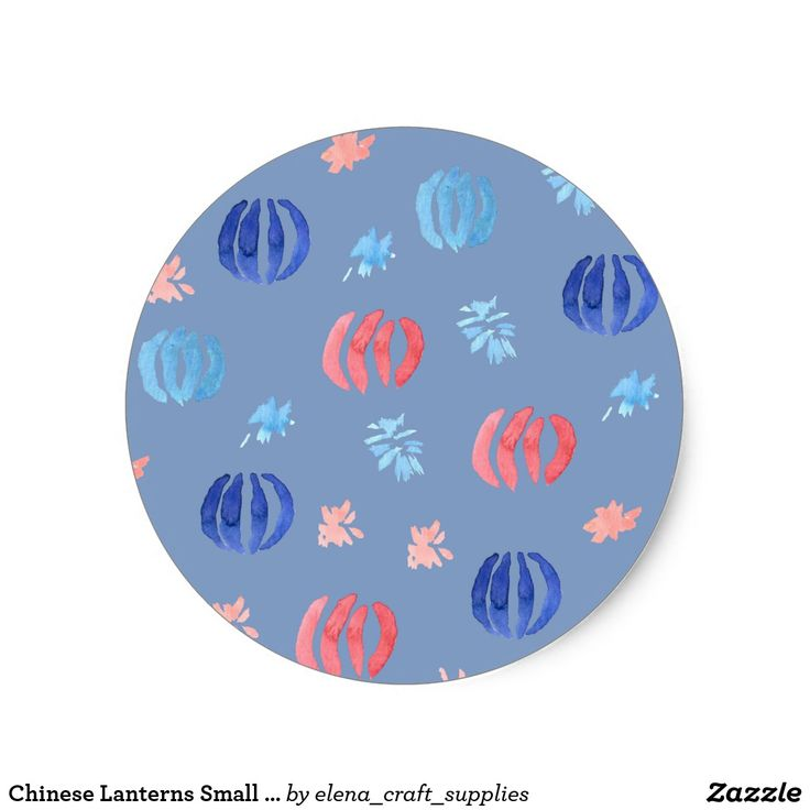 Chinese Lanterns Small Matte Round Sticker
