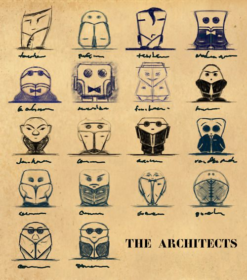 "Work-sketches for the series ""The architects""    Sketch by ivan schuler ""justoneartist"""